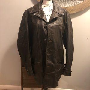 Vintage Genuine Leather Coat 46
